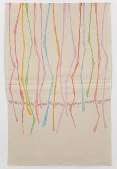 "Fragments 1968 – 2012    Giorgio Griffa    CANONE AUREO (finale 309), 2012  Acrylic on canvas    63.8 x 40.9"" / 162 x 104cm"
