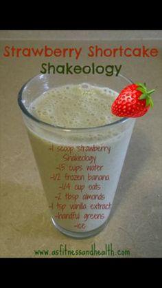 Strawberry Shortcake Shakeology Recipe