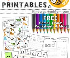 Phonics and spelling has never been so fun! This is a great way to get your children building words from letter tiles. Each worksheet has everything you need for scissor practice, word family phonics, spelling Preschool Curriculum, Kindergarten Math, Homeschooling, Homeschool Math, Letter A Words, Letter Tracing, Spelling And Handwriting, Sight Words Printables, Free Printables