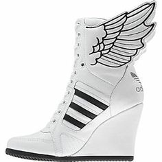 $237 ...NOTE: UK SIZE 6= US SIZE 8 .... Adidas Womens ObyO Jeremy Scott JS Wings Wedge Hi Shoes Trainers UK 4 5 6 7 8 9 | eBay