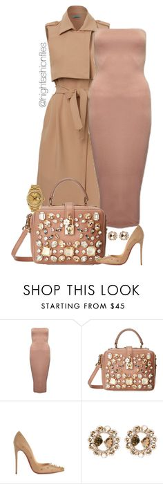 """""""Embellished"""" by highfashionfiles ❤ liked on Polyvore featuring Dolce&Gabbana, Christian Louboutin, Rolex and Miu Miu"""