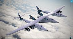 SpaceShipTwo being carried.