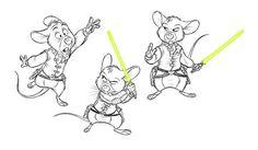 Vagner Farias #mouse #mice #jedi #lightsaber