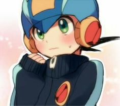Kawaii Megaman exe Megaman battle network this picture is so cute^^