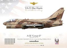 """A-7E Corsair II VA-72 """"Blue Hawks"""""""