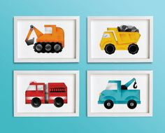 Set of 4 Truck Prints 8 x 10 by TheOfficeOfNature on Etsy, $75.00