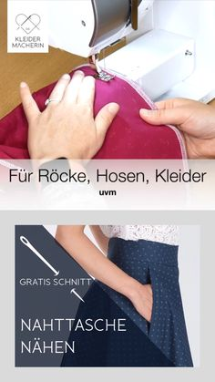 Sew in the sewing bag – Nähen – Clothing Hacks Simple Embroidery Designs, Floral Embroidery Patterns, Free Motion Embroidery, Couture Embroidery, Embroidery Fashion, Sewing Hacks, Sewing Tutorials, Sewing Crafts, Sewing Tips