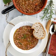 Farro and bean soup - Zuppa di Farro e Fagioli