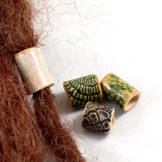 SET ceramic beads for dreads dreadlock cingari by SparkleCingari