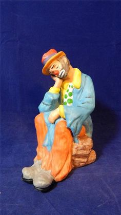 1980s The Emmett Kelly Jr. Collection Flambro Clown Prince of Pantomime Figurine