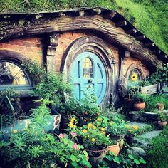 hobbit house community - how fun. Tea house tucked in the back garden?