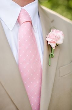 Blush, White and Beige Suit