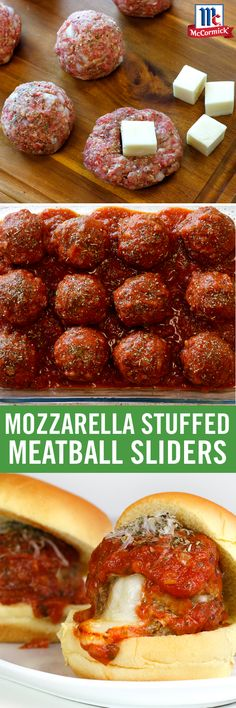 Meatball sliders get the all-star treatment with a twist here (and a twist there) from our Italian Blend Herb Grinder. When prepping, season directly into meatballs and sauce for zesty Italian flavor. Before taking a bite into the gooey mozzarella center, Italian Recipes, Beef Recipes, Cooking Recipes, Meatball Recipes, Italian Foods, Meatloaf Recipes, Cheese Recipes, Pasta Recipes, Meat Recipes