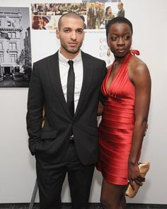Danai Gurira and haaz sleiman