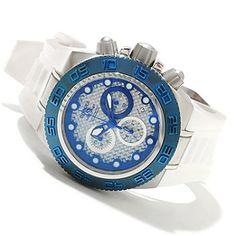 Invicta Mid-Size Subaqua Sport Quartz Chronograph Carbon Fiber Dial Polyurethane Strap Watch