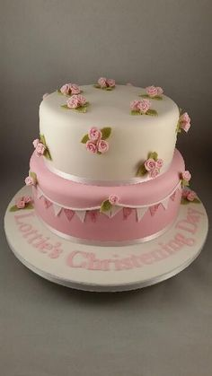 Pretty Cakes, Cute Cakes, Beautiful Cakes, Amazing Cakes, Elegant Birthday Cakes, Birthday Cake Girls, Cake Decorating With Fondant, Cake Decorating Tips, Fondant Cakes