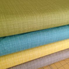 Bluebird Park by Kate and Birdie for Moda Fabrics, Linen textured solids Fat Quarter bundle 3 total