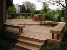 Check out our photo galleries of projects Deck Solutions has completed with decks, hardscapes, outdoor lighting, outdoor kitchens, and more. Small Patio Design, Patio Deck Designs, Deck Railing Design, Backyard Hammock, Backyard Patio, Outdoor Kitchen Bars, Outdoor Kitchens, Jacuzzi, Deck Bench Seating