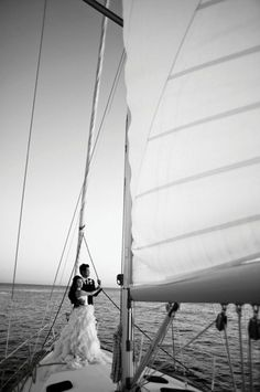 Sailboat wedding.  Love it!