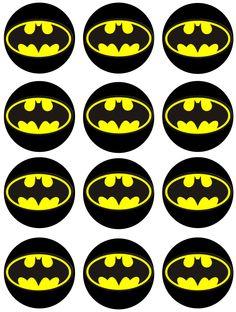 Batman - Batman Printables - Ideas of Batman Printables - Batman Edible Image Cupcake Toppers by Shore Cake Supply Batman Cake Topper, Batman Cupcakes, Batman Birthday Cakes, Superhero Birthday Party, Cake Birthday, Lego Batman Party, Birthday Parties, Baby Batman, Batman Batman