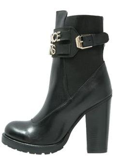 Versace Jeans enkel boots black high heels Enkellaarsjes met plateauzool - nero/oro