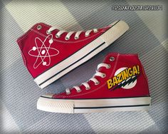 Bazinga / The Big Bang Theory Custom Converse / Painted Shoes / TBBT by FeslegenDesign on Etsy