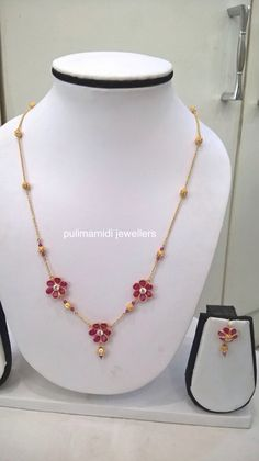 Love this design will sure made Gold Chain Design, Gold Jewellery Design, Gold Jewelry Simple, Simple Necklace, Baby Necklace, Gold Necklace, Gold Earrings Designs, Necklace Designs, Gold Designs