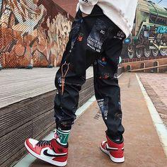 Uomo Pantaloni Sera Casual Estivo 2019 Pantaloni Hip Hop Moda