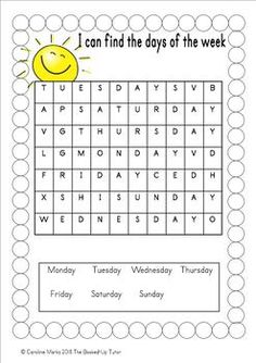 {Days of the Week} {days of the week worksheets} {days of the week activities} - - {Days of the Week} {days of the week worksheets} {days of the week activities}. Days Of The Week Activities, Days Of A Week, Days And Months, Months In A Year, Learning Activities, Seasons Worksheets, First Grade Worksheets, Kids Math Worksheets, Writing Worksheets