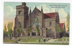 Salt Lake City Utah First Presbyterian Church  CA 1910