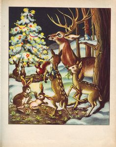 christmas forest creature's ¸.•♥•.  www.pinterest.com/WhoLoves/Christmas  ¸.•♥•.¸¸¸ツ #Christmas
