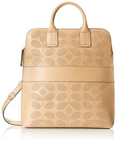 Orla Kiely Sixties Stem Punched Leather Juniper Bag, Fawn, One Size Orla Kiely http://www.amazon.com/dp/B00TIC4H8M/ref=cm_sw_r_pi_dp_8ak0wb0ANDJ22