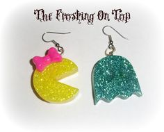 80s Retro Ms.Pac- Man Earrings - My girls will love these!