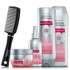 5 Piece Set $12.99!! Introducing ADVANCE TECHNIQUES Reconstruction 7! Start bringing hair back to health after years of damage. Sale ends 10-1-15 Shop Avon online www.youravon.com/devanko