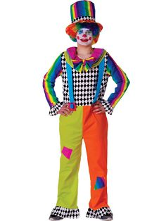 Mens Jolly Clown Costume | Wholesale Clown Costumes for Men