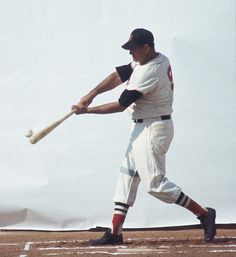 Ted Williams shows off his swing
