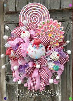 Despair In Youngsters - Realize To Get Rid Of It Wholly Candy Land Christmas Wreath Christmas Decor Candy Classic Christmas Decorations, Colorful Christmas Tree, Christmas Tree Themes, Christmas Crafts, Christmas Ornaments, Candy Land Christmas, Christmas Mesh Wreaths, Pink Christmas, Christmas Gingerbread