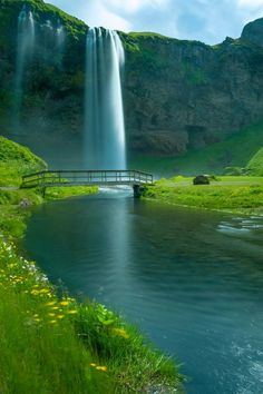 Seljalandsfoss Falls, Iceland #travel #places #Iceland