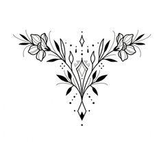 Acab Tattoo, Coeur Tattoo, Sternum Tattoo, Tatoo Art, Piercing Tattoo, Piercings, Line Art Tattoos, Flower Tattoos, Body Art Tattoos