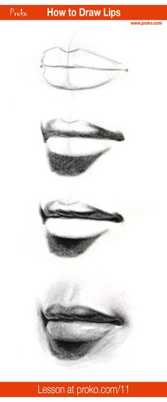 Learn how to draw realistic lips! Follow along with this drawing instruction at proko.com/11