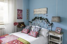 dormitorio paredes turquesa - Buscar con Google