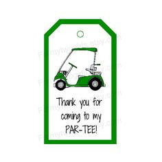 Golf Party Hang Tag for Favors More