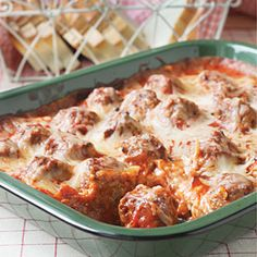 Family-Friendly Casseroles from Gooseberry Patch | Meatball Sub Casserole | MyRecipes.com