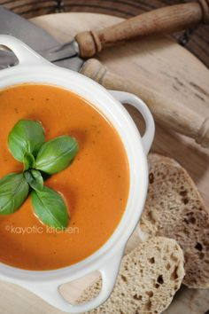 Creamy Tomato Soup  THIS one is unlike any I've seen and pinned before.  This one def sounds the BEST!!!  Boursin and Pesto are in the mix...  Must try.  We love fresh Tomato Soup around here :)