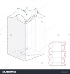 Custom Top Lock Candy Retail Box With Die Cut Template Stock Vector Illustration 340774073 : Shutterstock