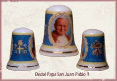 Dedal del Papa San Juan Pablo II. El dia 2 de abril se conmemora el décimo aniversario de su muerte