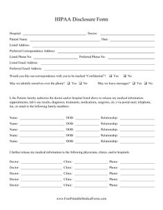 patients can use this hipaa form as a medical release to give doctors sensitive information dental insurance planscar
