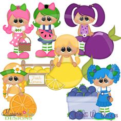 Summer Fruities~SVG-MTC-PNG plus JPG Cut Out Sheet(s) Our sets also include clipart in these formats: PNG & JPG