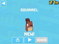 Just unlocked Squirrel! #crossyroad