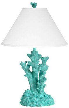 teal coral lamp for Ocean Nursery...k, I bet we could make one...hey! A trip to Maflingo Jim's!!